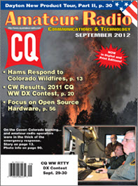 Reception Log in September 2012 issue of CQ